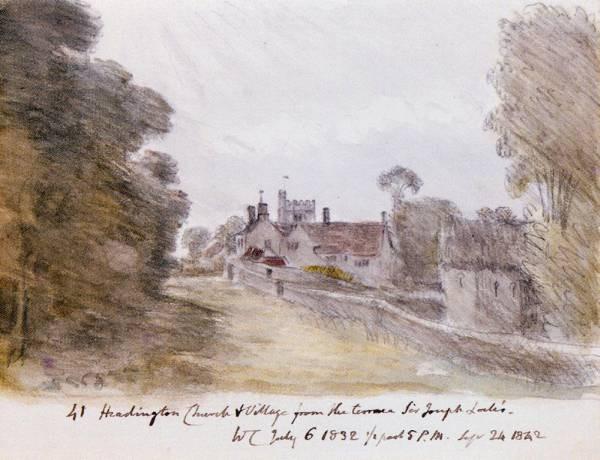 Headington Church An Village From The Terrace Of Sir Joseph Locks